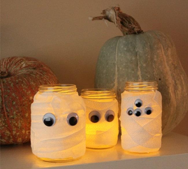 lavoretti halloween lanterna mummia