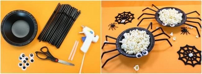 lavoretti halloween piatto ragno
