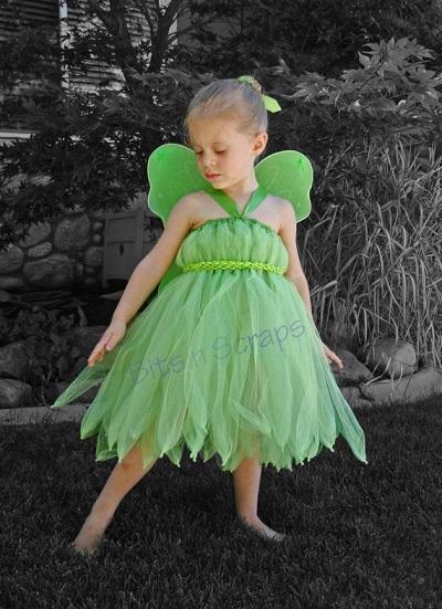 Trilly di Peter Pan. Costume di Carnevale