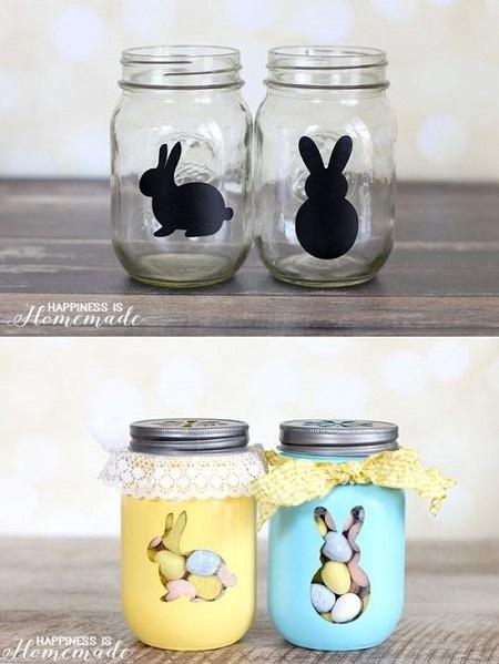 Lavoretti per Pasqua: barattoli decorati